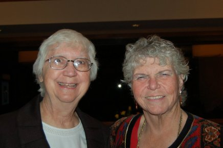 Sister Judith Sherian SMSM (left) with Rev. Marge Swaker, being honored by the Soroptimists for their work to help others.