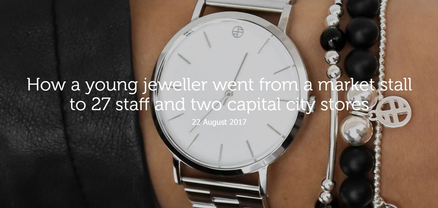 How a young jeweller went from a market stall to 27 staff and two capital city stores