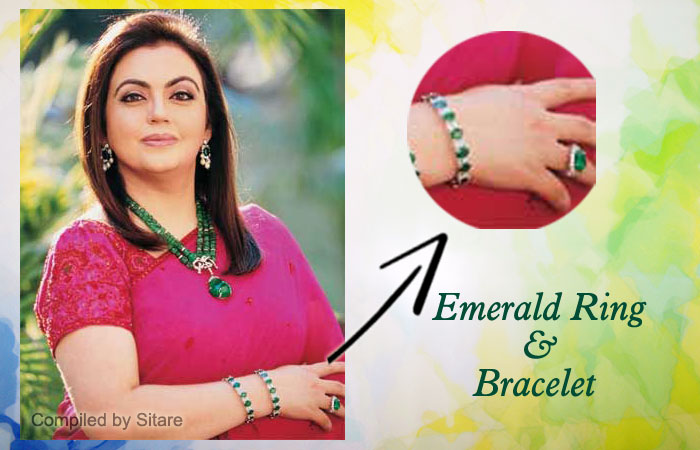 Nita Ambani Wearing Emerald Gemstone Ring