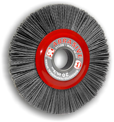 Wheel Brushes In Abrasive Nylon For Stationary