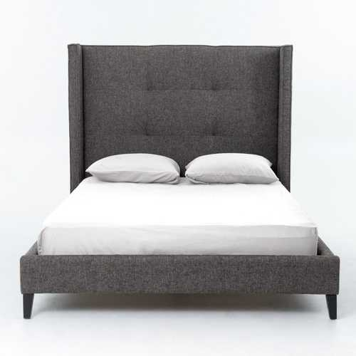 Monroe Upholstered Queen Bed Charcoal