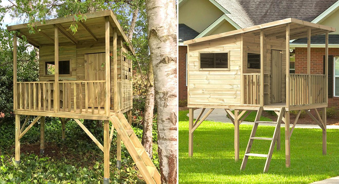 jete construire leninisme grande maisonnette en bois amazon