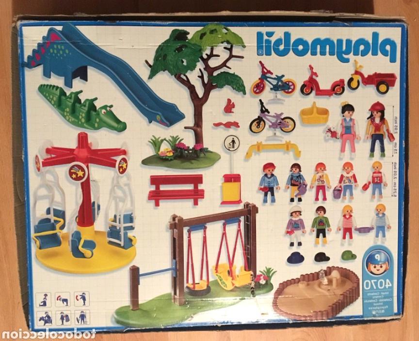 playmobil air de jeux v1104 banc rouge