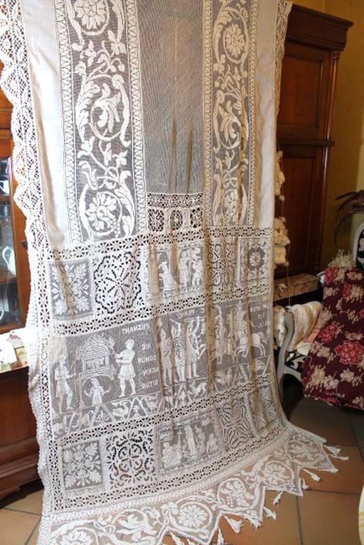 dentelles anciennes rideaux d occasion