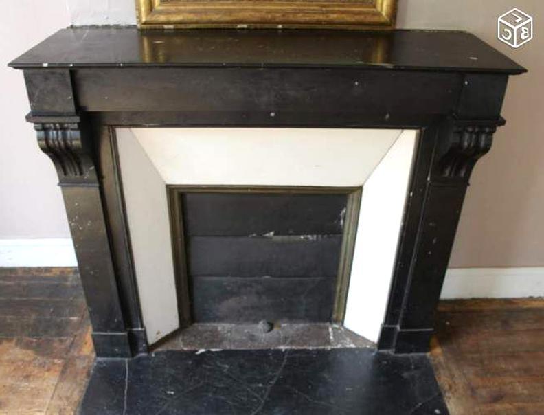 cheminee marbre noir d occasion