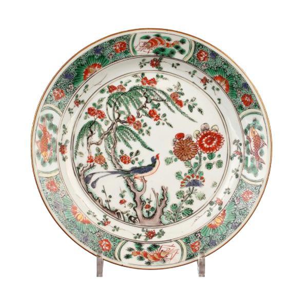 assiette chinoise porcelaine ancienne d