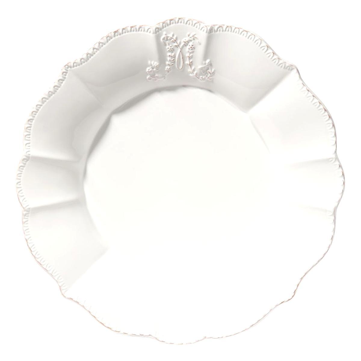 assiette faience blanche d occasion