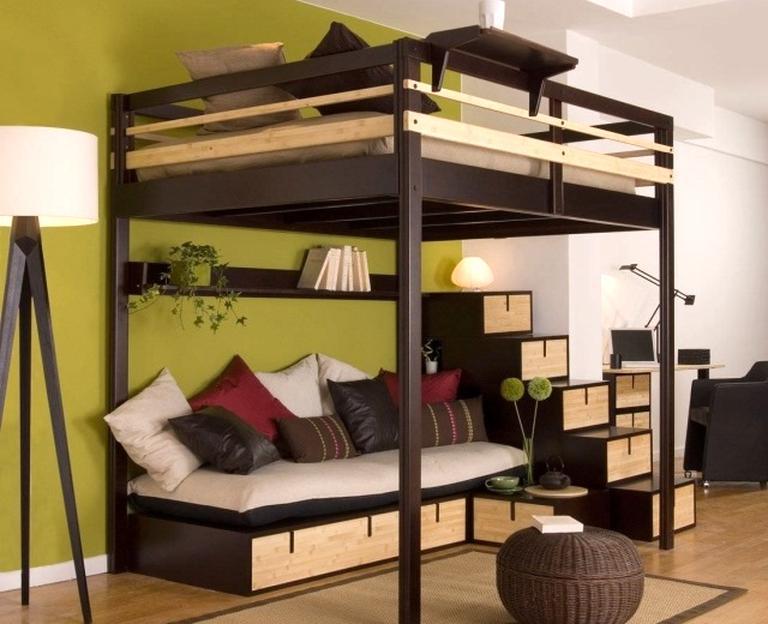 lit mezzanine avec passerelle