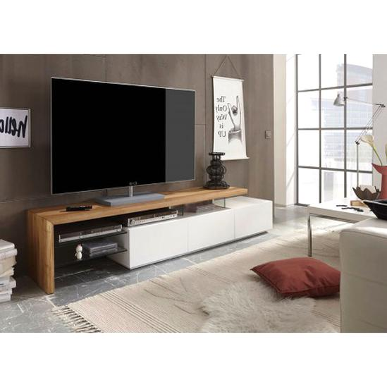 meuble tv blanc chene d occasion