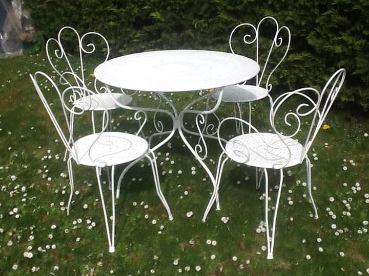 table salon jardin fer d occasion