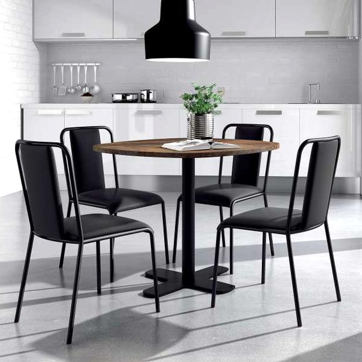 table ronde cuisine pied central d occasion