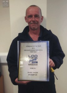 Russell Winning Loo of the year award 2016
