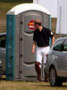 Prince William Used Our Portable Toilet!