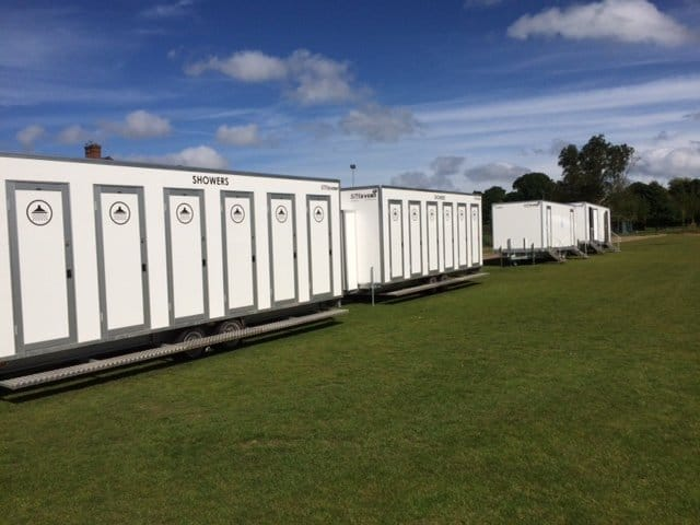mobile temporary showers