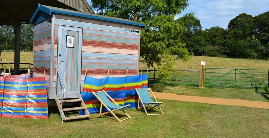 Beach Hut Themed Toilet