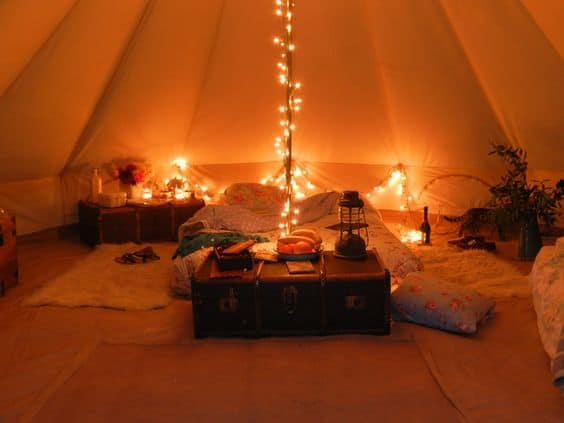Check out how to turn camping into glamping