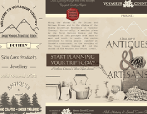 Antiques & Artisans of Voyageur Country Brochure Outside