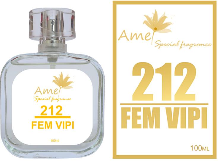 Perfume 212 Fem Vipi 100ml inspirado no perfume 212 Vip Feminino