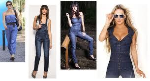 Vários modelos de Macacão Jeans