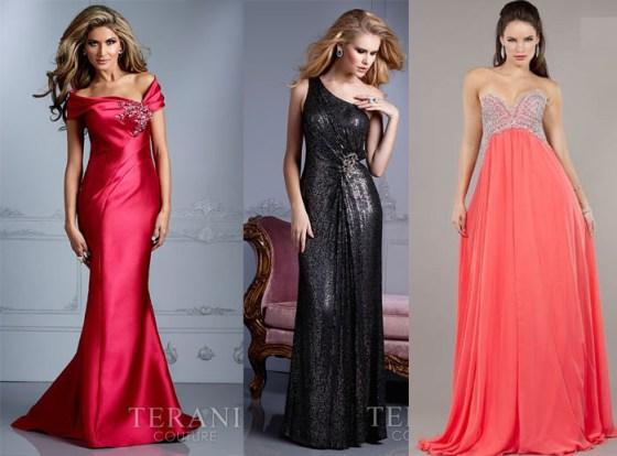 variedades de vestidos longos para formatura