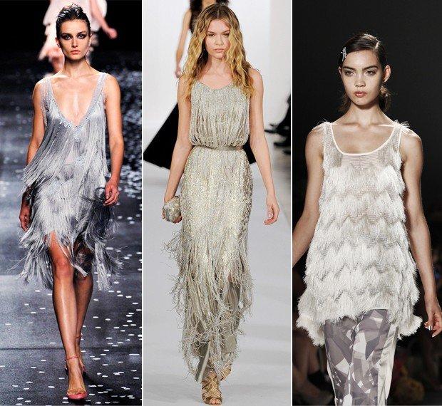 vestidos com franjas
