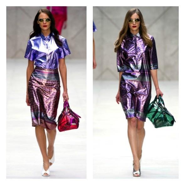 roupas e acessórios holográricos