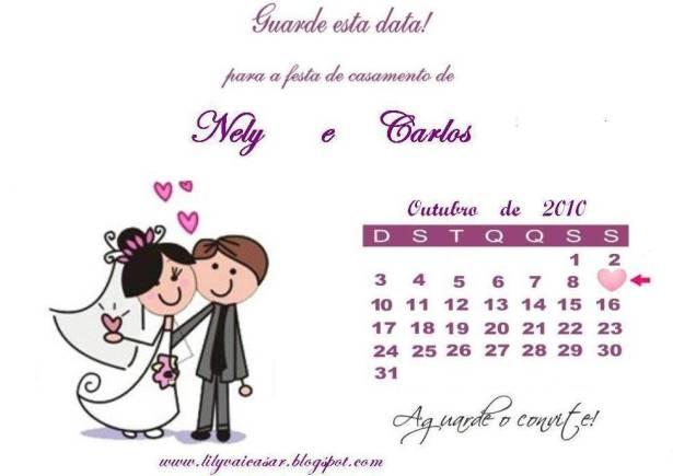 ilustração Save the Date