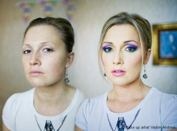 antes e o depois da maquiagem - incrível