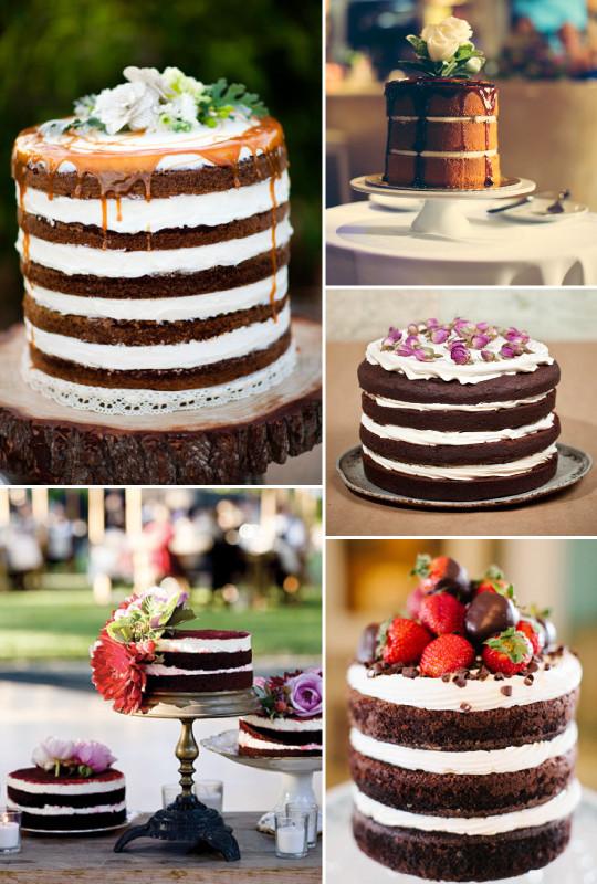 fotos de bolo de casamento Naked cake