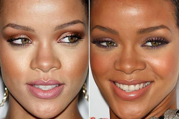 maquiagem para pele negra antes e depois
