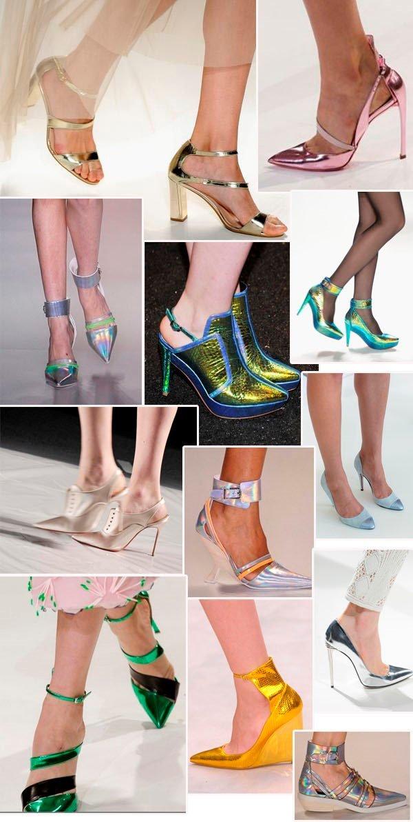 tendências de sapatos metalizados para 2014