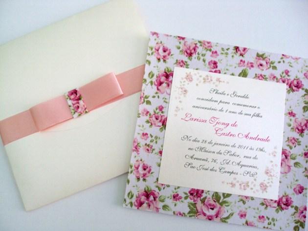 convites de tecidos