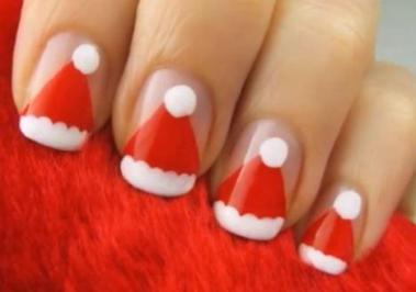 unhas decoradas de natal