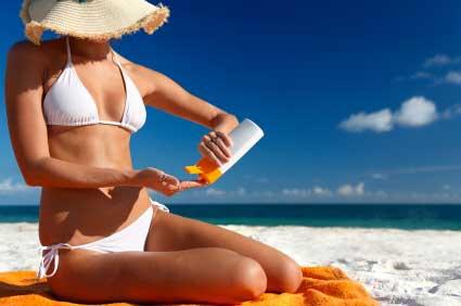 protetor solar para evitar queimaduras do sol