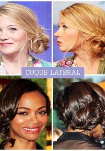 penteado coque lateral