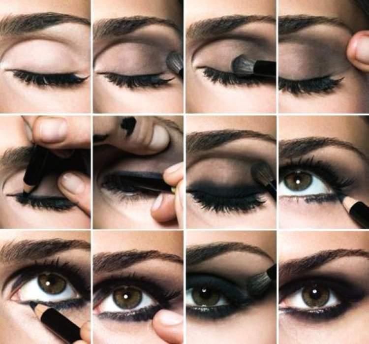 tutorial de maquiagem para fazer olho preto esfumado passo a passo