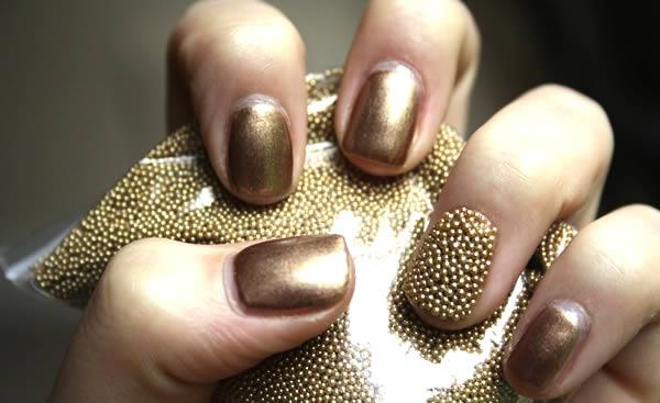 aprenda fazer unhas com efeito caviar