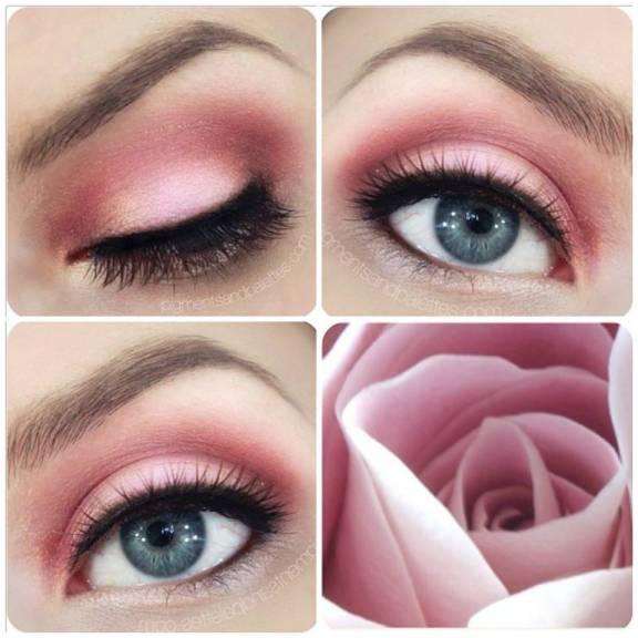 tendências do make cor-de-rosa