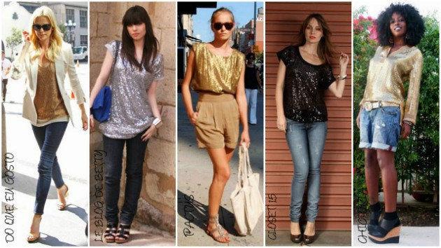 fotos de roupas brilhantes