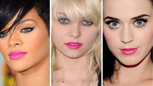 modelos de maquiagens cor-de-rosa