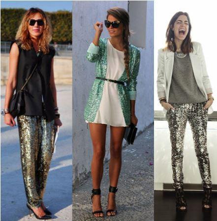 roupas brilhantes da moda