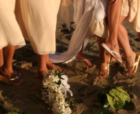 sapatos para casamento na praia