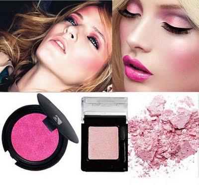 imagem de maquiagem cor-de-rosa