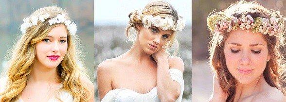 cora de flores é um dos acessórios de cabelo para noivas