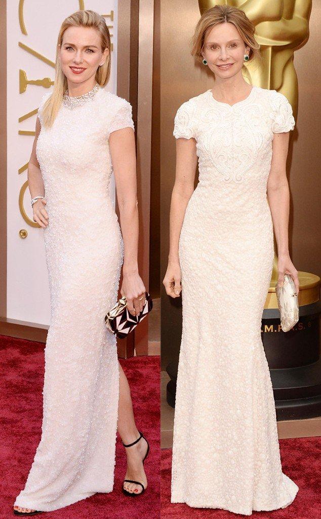 look de Noami Watts no Oscar 2014