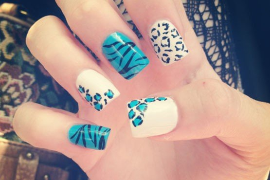 modelo de unhas decoradas animal print