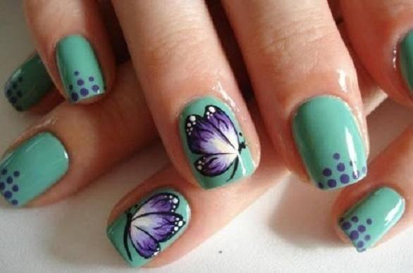 aprenda fazer unhas decoradas com borboletas