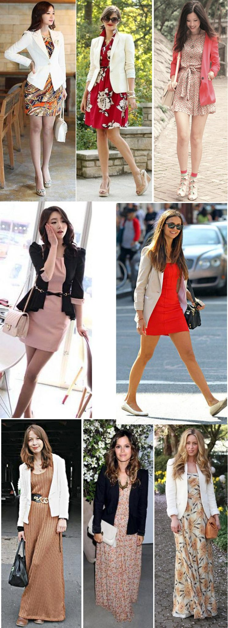 Blazer feminino e vestido