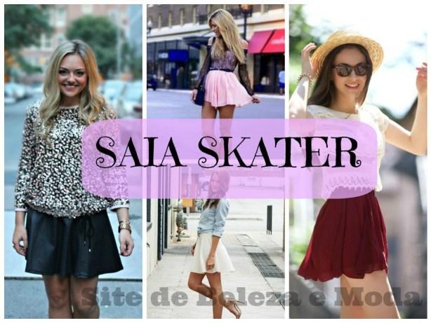 A moda da super feminina Saia Skater