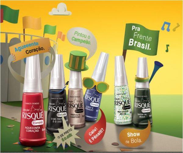 Risqué lança coleção em clima de Copa
